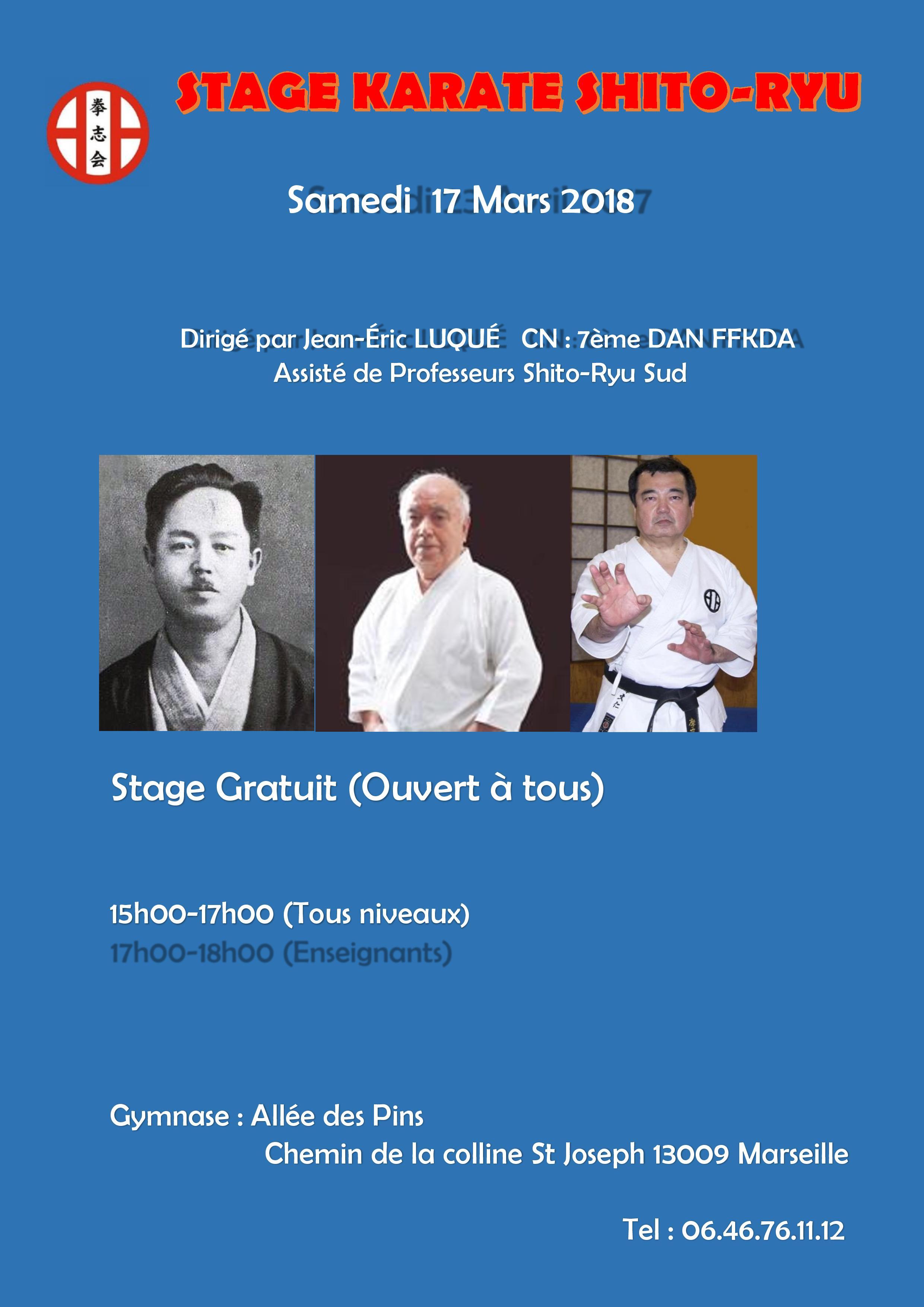 Stage Shito-Ryu Shitokaï France